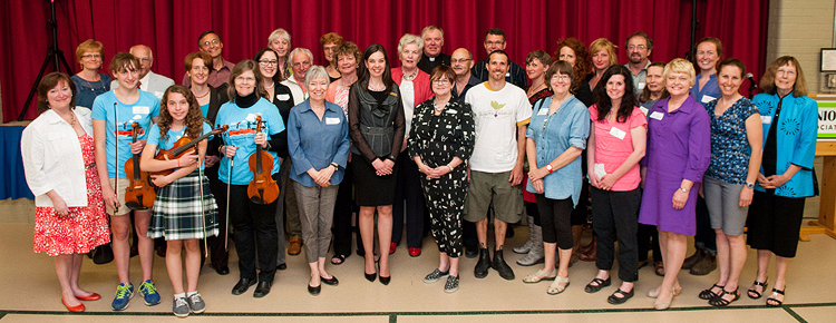 2015 Grant Award Recipients.  Carolyn Bonta, ELEEC Manager, second from right.